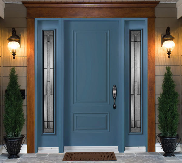 double sided front door