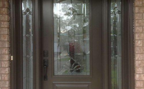 double side panels front door