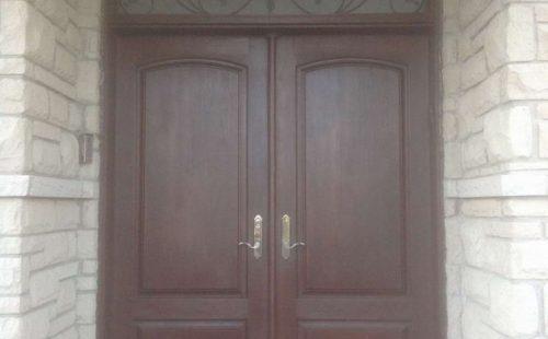 Double solid front entrance  door