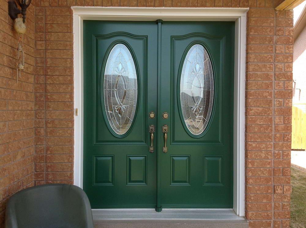 Green entery door