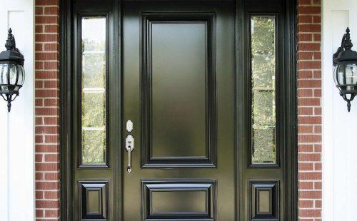Large Black Entrance Door