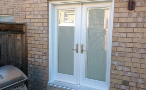 pure white patio door