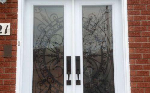white entry door installation Aurora