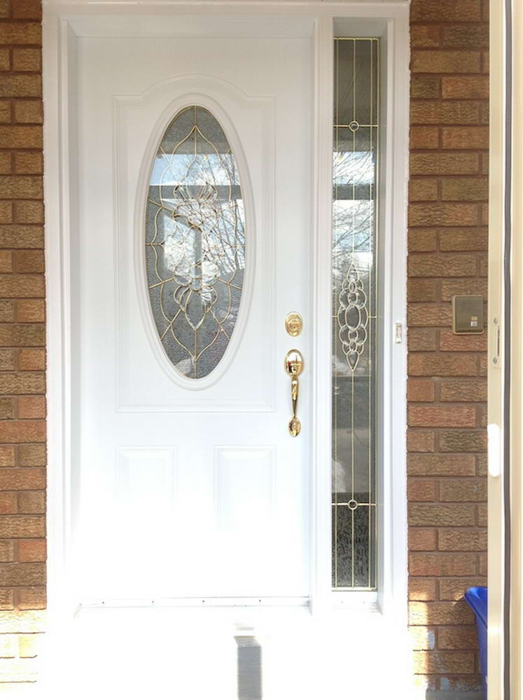 single side panel right hand swing entry door
