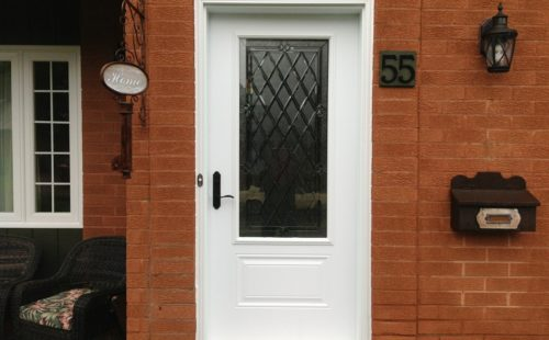 Simple single front door