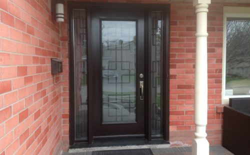 black oak front door