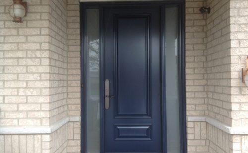 dark blue front door