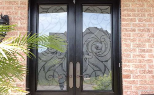 double black door