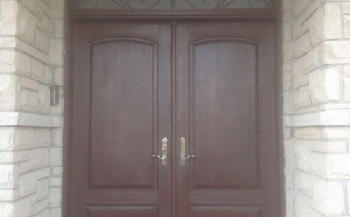 Double solid front entrance  door