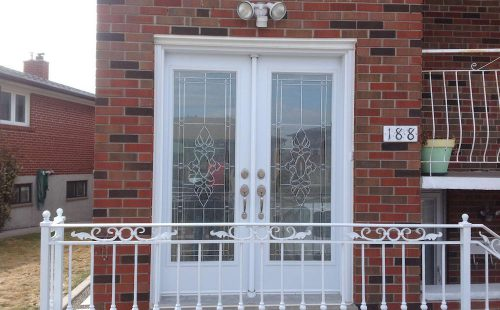double white front door replacement