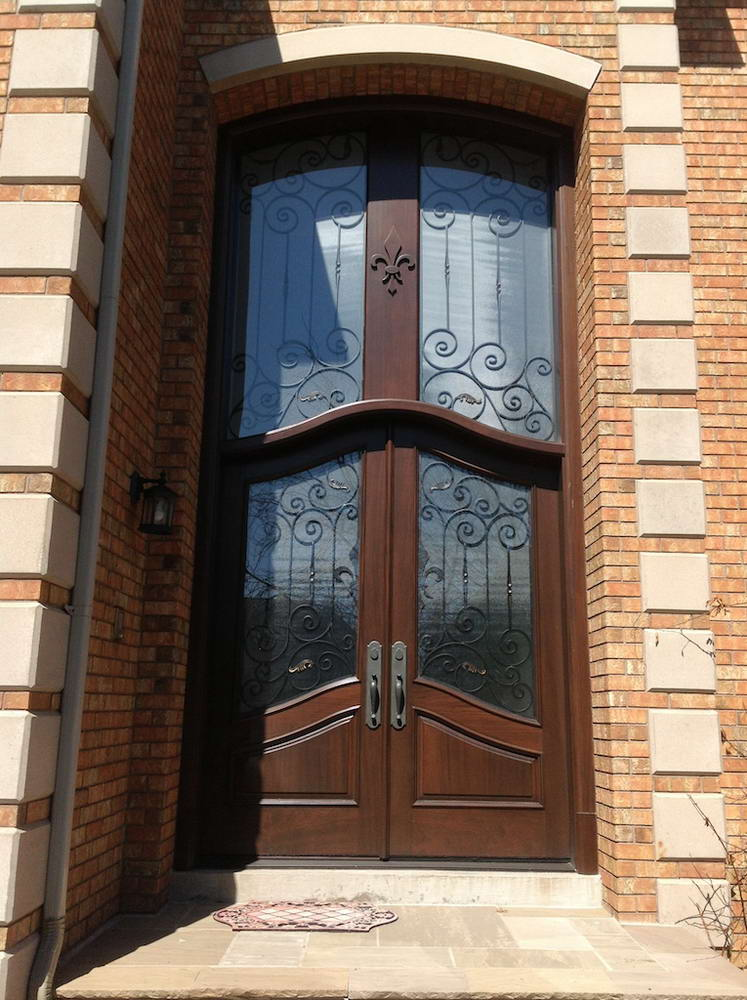 Elegant wood, front door