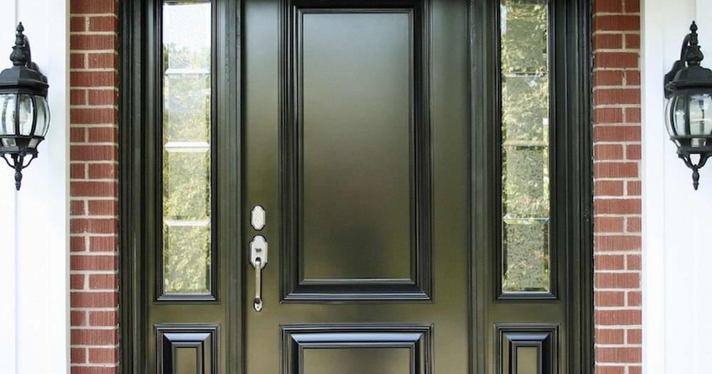 Large Black Entrance Door