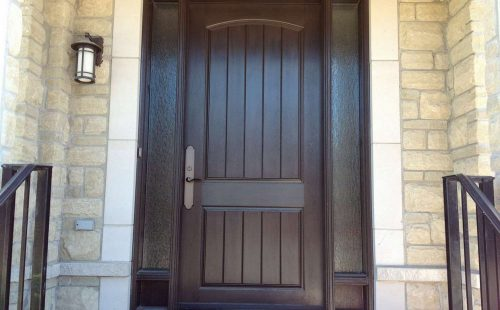 Modern solid front door