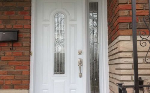white entry door