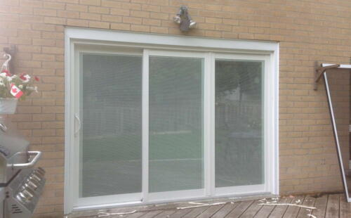 newly replaced patio door by milano windows & doors Toronto