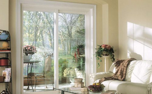 wide patio door