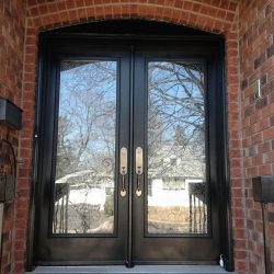 black maple front entrance door