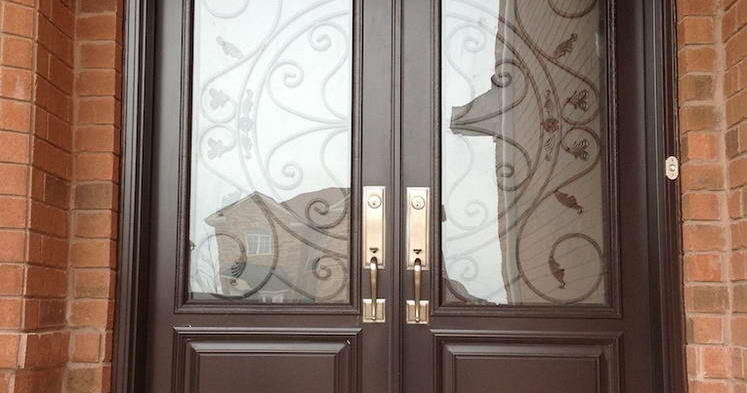 Dark oak front entrance door