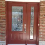 light brown front door