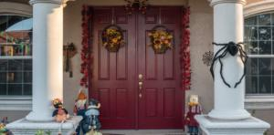 Spook Up Your Halloween with These Amazing Entry Door Ideas