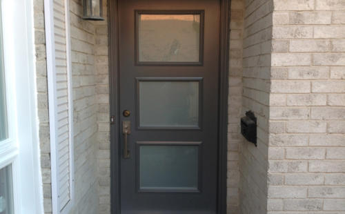 3 glass panels exterior door