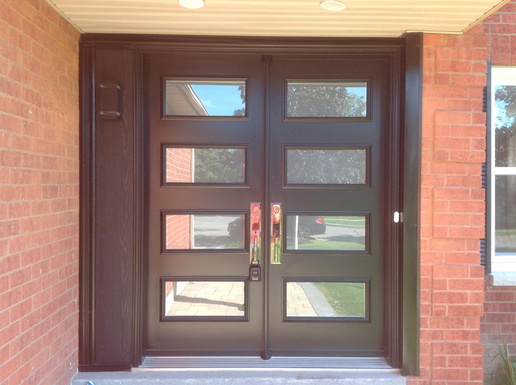 8 glass panels double door