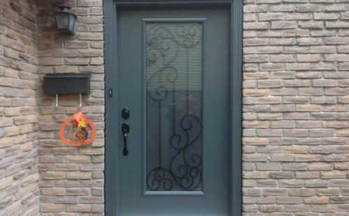 iron wrought exterior door