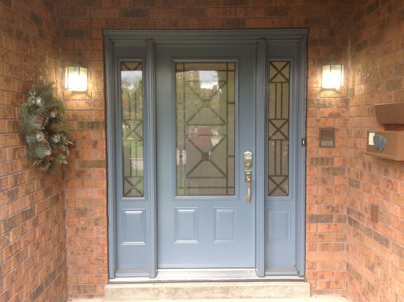 three quarters door