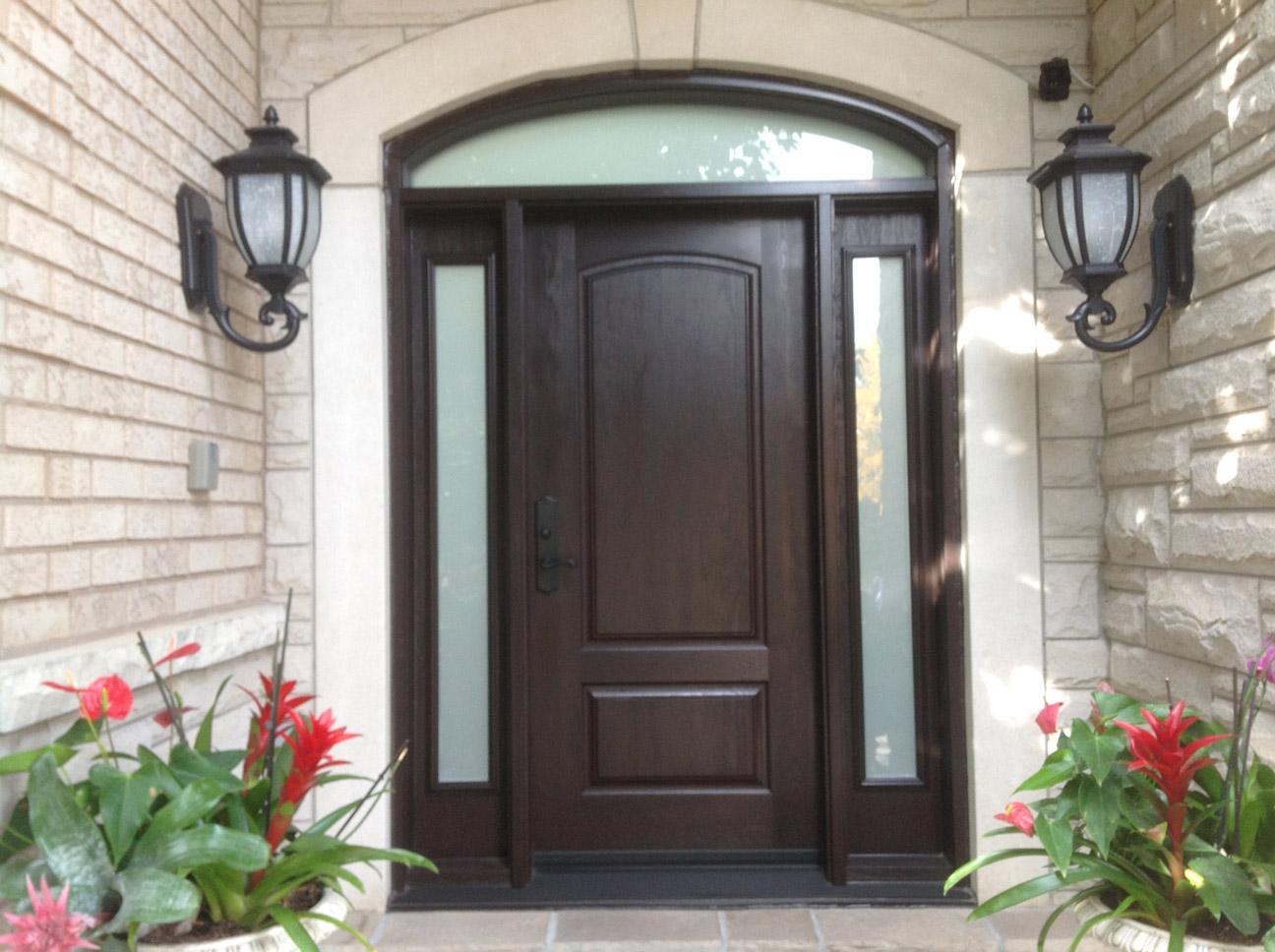 three quarters wooden door