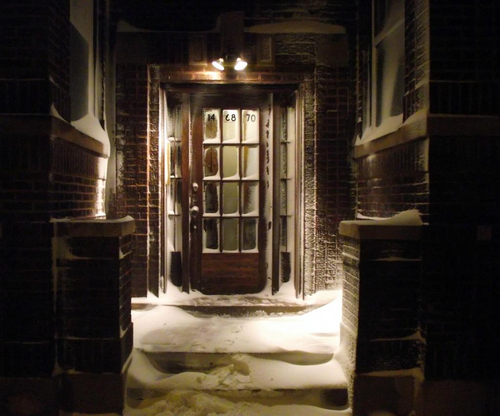 Snow on Entry Door