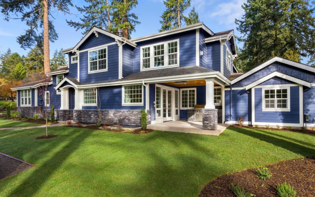 custom home with luxury exterior door and egress window Oshawa
